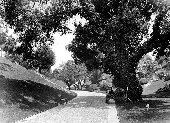 Busch Gardens in Pasadena, photographed in September 1924.