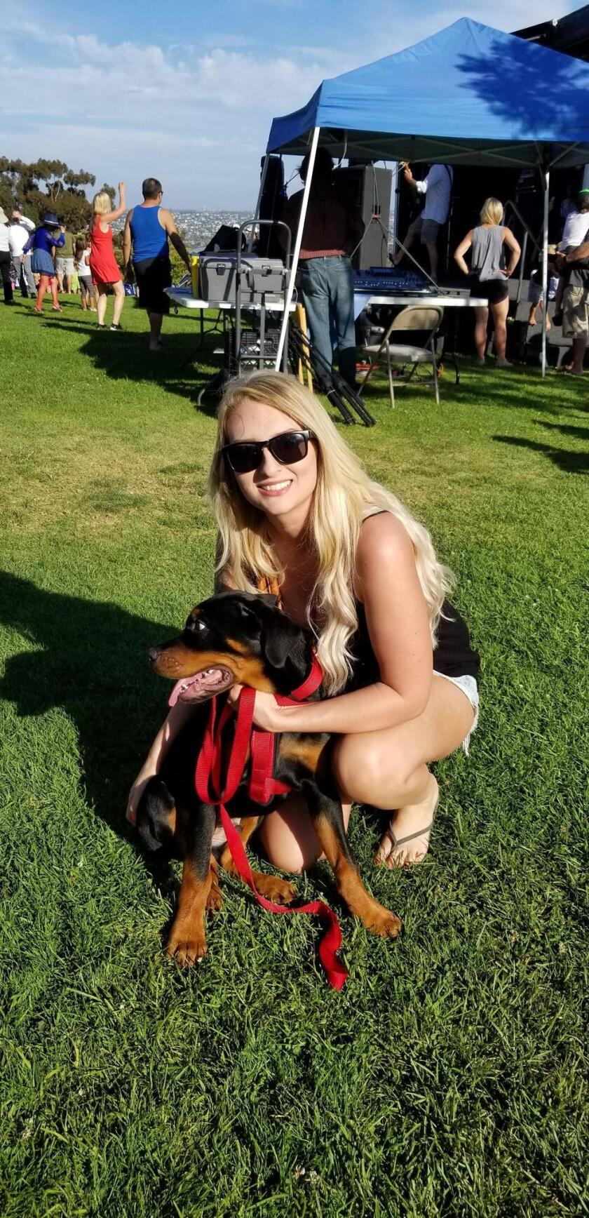 Shelby Cantrell and her furry friend, Harley