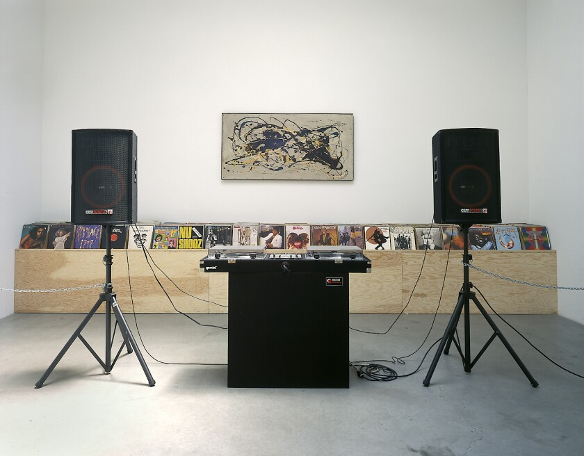 """Ruins of a Sensibility,"" 1972-2002, by Nayland Blake, is an interactive DJ station."