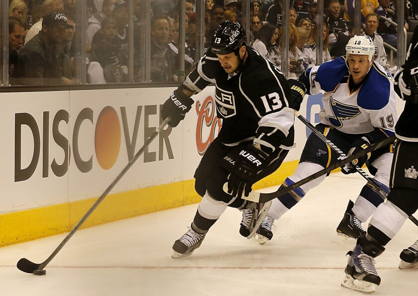 Kings left wing Kyle Clifford apparently suffered an injury during the playoff series against St. Louis.