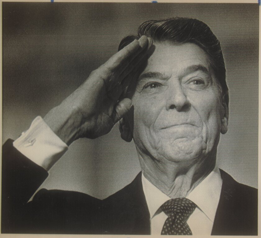 President Reagan in 1989.