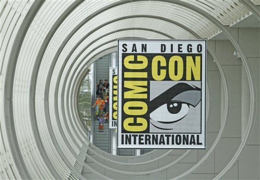 Now you can listen to Comic-Con in your car and at home, at least until Wednesday. AP Photo/Denis Poroy