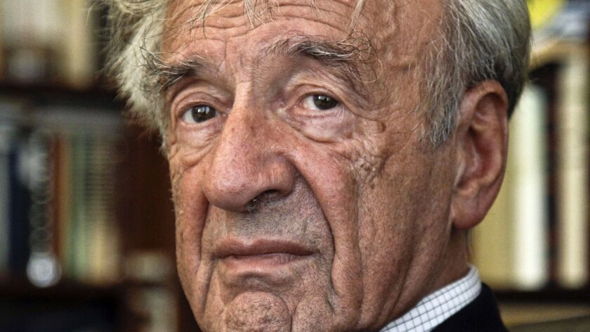 Romanian police are investigating after anti-Semitic graffiti appeared on the house of late Nobel laureate Elie Wiesel, here in a 2012 photo.