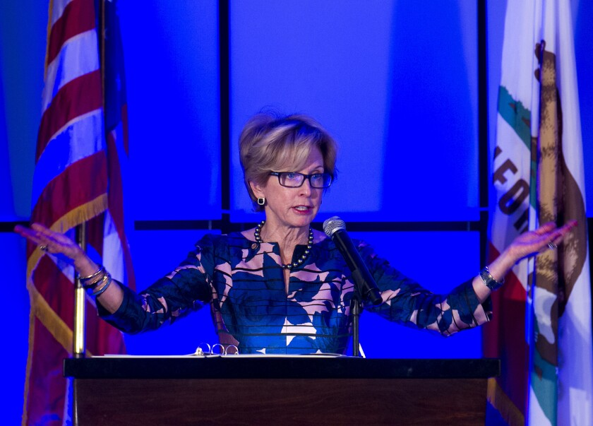 NEWPORT BEACH, February 04, 2016 - Newport Beach Mayor Diane Dixon gives the state of the city add