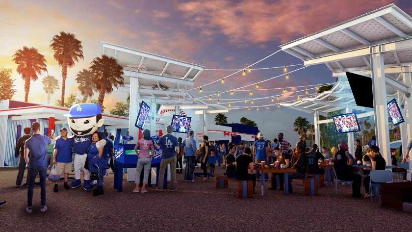 Dodger Stadium fan area renovation 2020