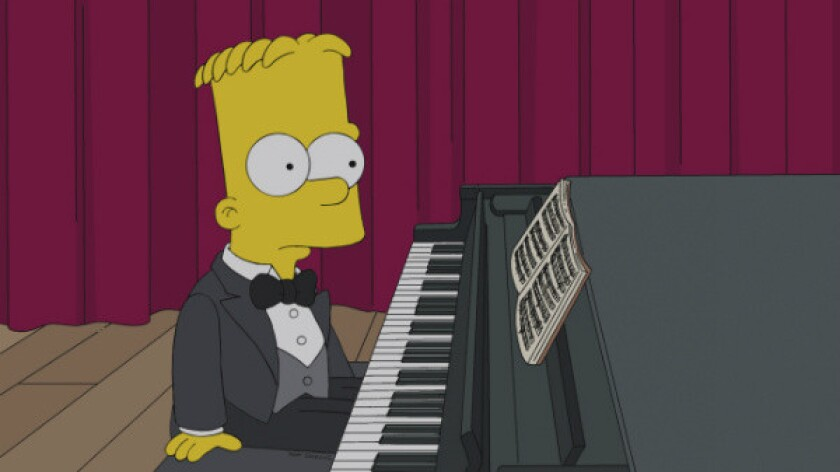 """Bart Simpson enters the world of classical piano in Sunday's episode of """"The Simpsons"""" on Fox."""
