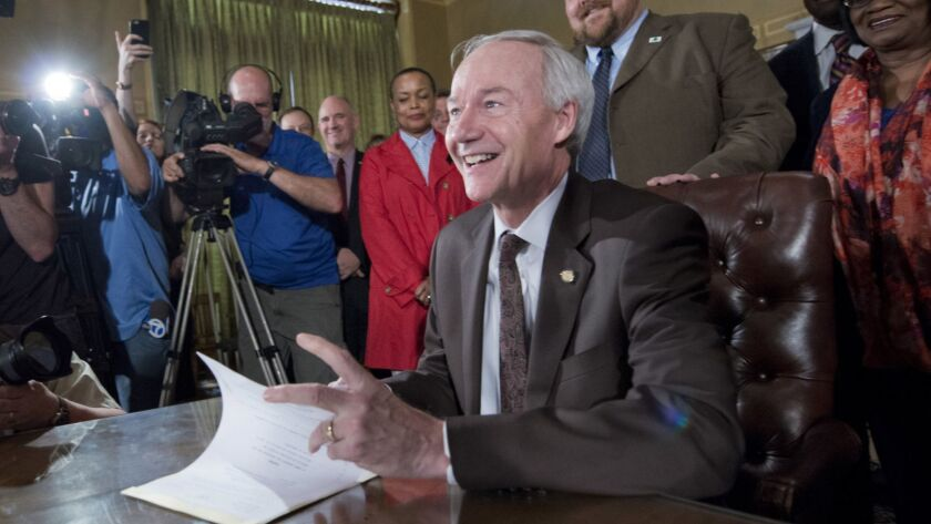 Arkansas Gov. Asa Hutchinson is responsible for a Medicaid work rule that cost thousands of his constituents their health coverage.