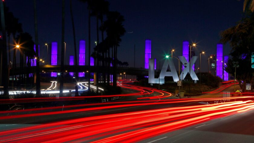 Travelers heading to LAX in the late evenings or early mornings should expect delays Mondays through Fridays because of lane closures on the 405 Freeway related to a light rail construction project.