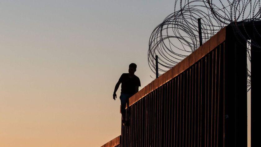 The U.S. border wall in Playas de Tijuana, Mexico.