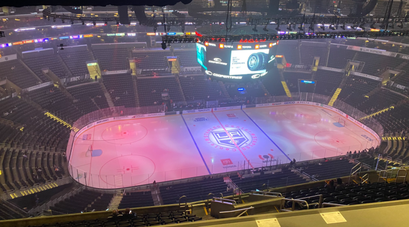 An empty Staples Center before the Kings' game Wednesday night against the Ottawa Senators.