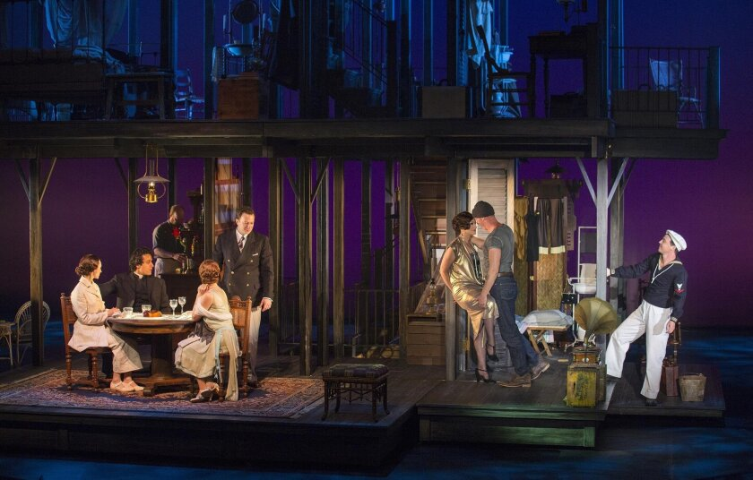 The cast of the world premiere musical 'Rain,' onstage through May 1 at The Old Globe.