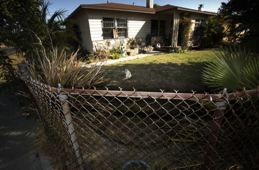 A house in Watts was listed for sale at $280,000 last year.
