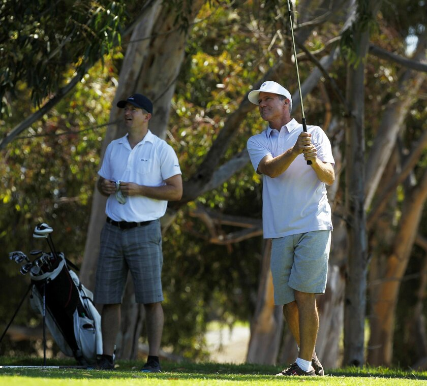 John Ashworth  played 100 holes of golf at the Center City Golf Course at Goat Hill in Oceanside on Monday, July 16, 2012. Ashworth was raising money for the North County Junior Golf Association and the After School All-Stars.