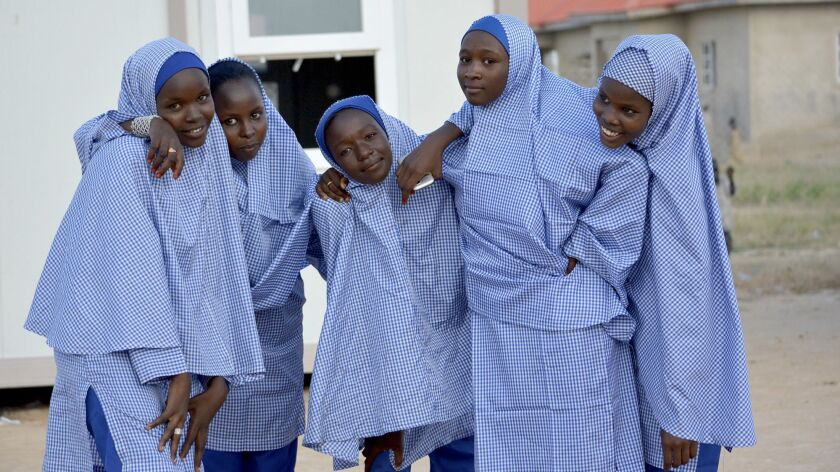 After missing years of schooling because of attacks by Nigerian Islamist extemists, Boko Haram, these teenagers in a Maiduguri refugee camp have returned to school.