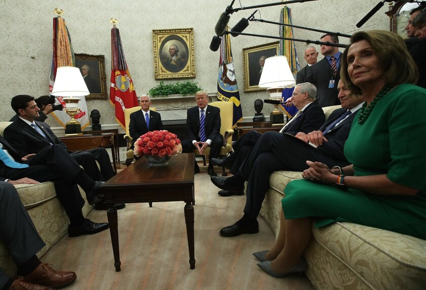 President Trump Meets With Congressional Leadership In The Oval Office