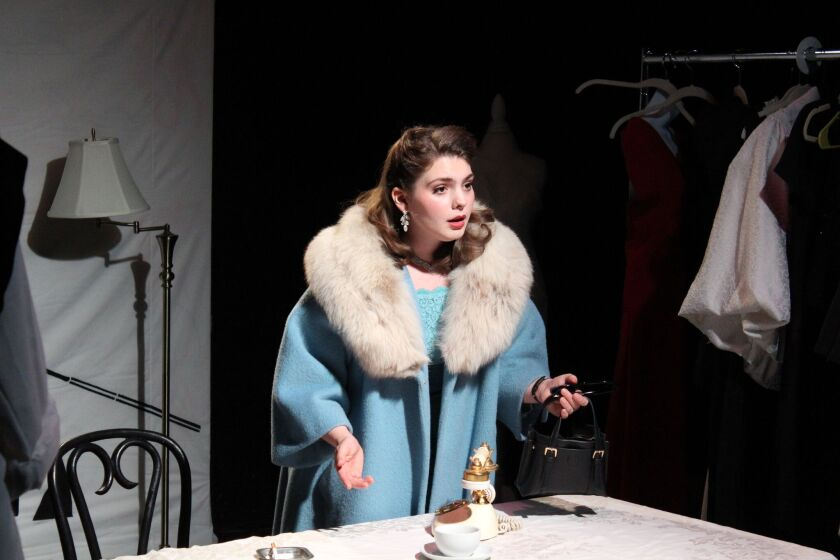 "Annabella Joy in Nervous Theatre's ""The Maids."""