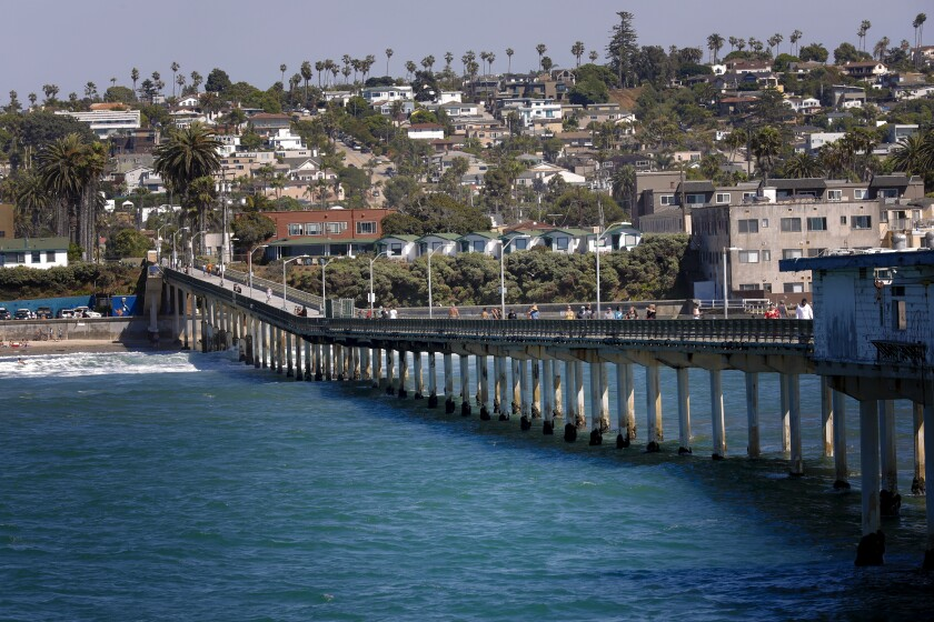 Ocean Beach Pier in San Diego.