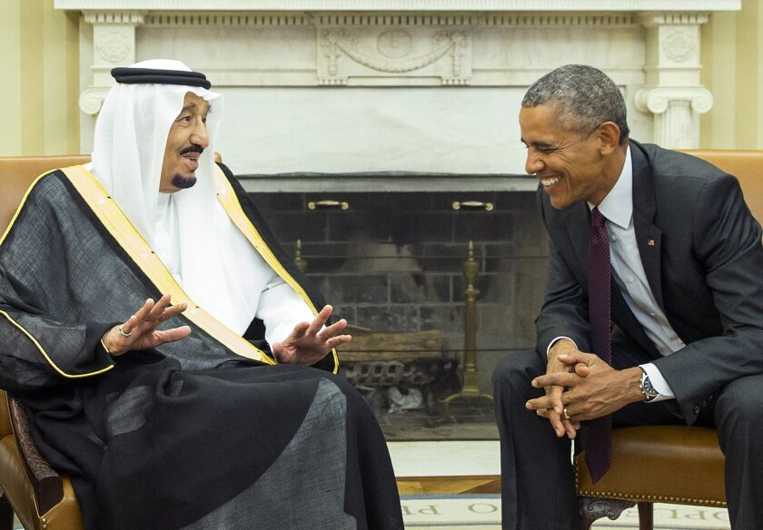 President Obama meets with King Salman of Saudi Arabia in the Oval Office of the White House on Sept. 4, 2015.