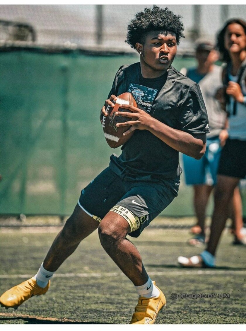 Incoming freshman quarterback Darius Curry of St. Bernard