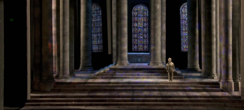 """A model of the set of """"Murder in the Cathedral."""""""