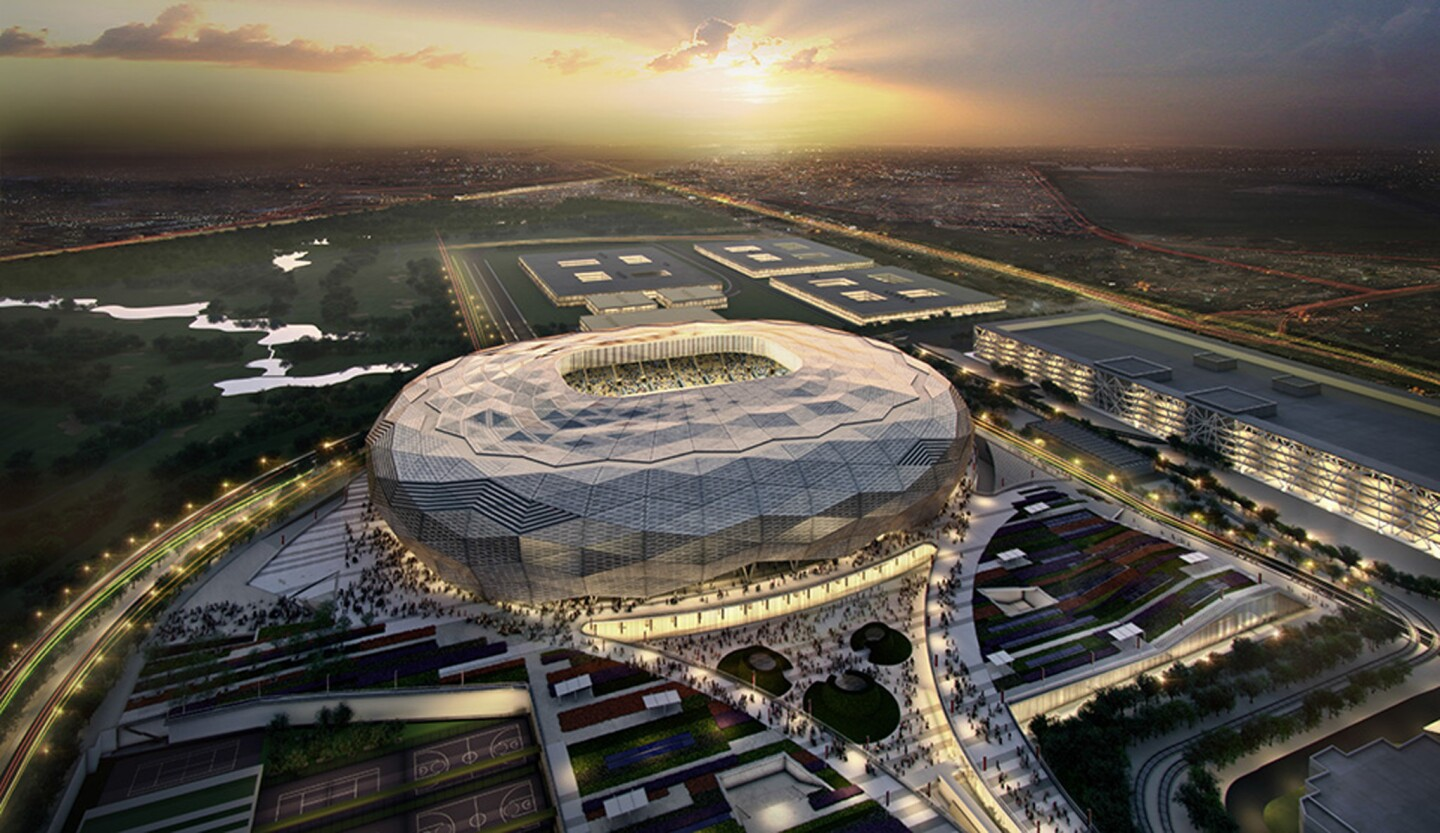 DOHA, QATAR: In this handout image supplied by Qatar 2022, this artists impression represents Qatar Foundation Stadium. Qatar will host the FIFA World Cup in 2022. (Photo by Handout/Supreme Committee for Delivery & Legacy via Getty Images) ** OUTS - ELSENT, FPG, CM - OUTS * NM, PH, VA if sourced by CT, LA or MoD **