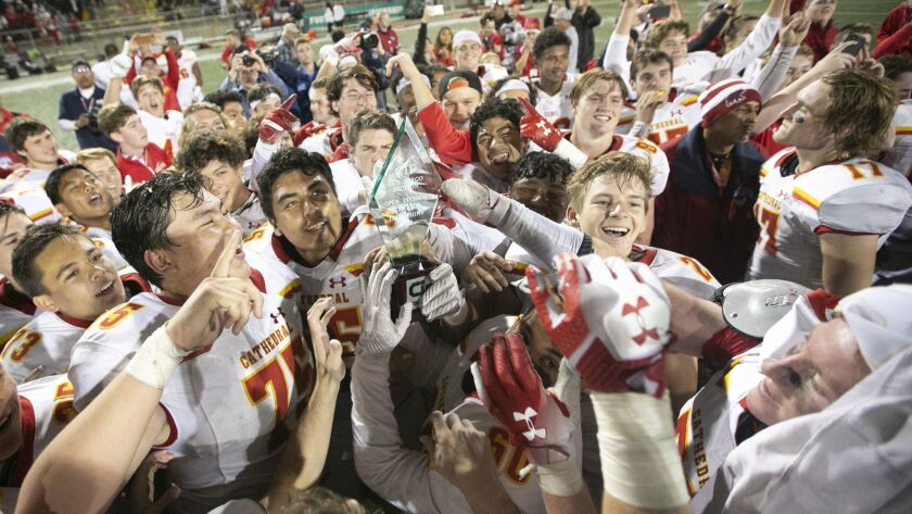 Cathedral Catholic celebrates its Open Division title Saturday night. The SoCal Regionals are next.