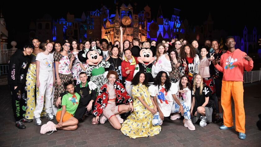 "BESTPIX -Disney kicks off ""Mickey the True Original"" campaign in celebration of Mickey's 90th anniversary with a fashion show at Disneyland featuring a Mickey-inspired collection by Opening Ceremony"
