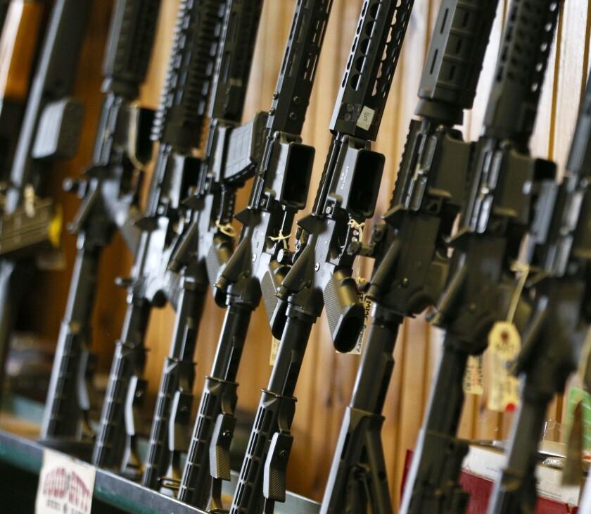 AR-15 assault rifles at a Utah gun shop