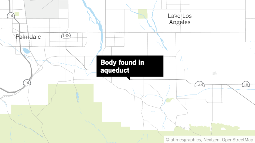 Body found in aqueduct