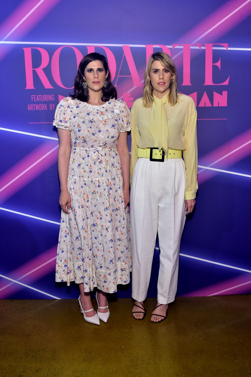 Rodarte designers Laura, from left, and Kate Mulleavy