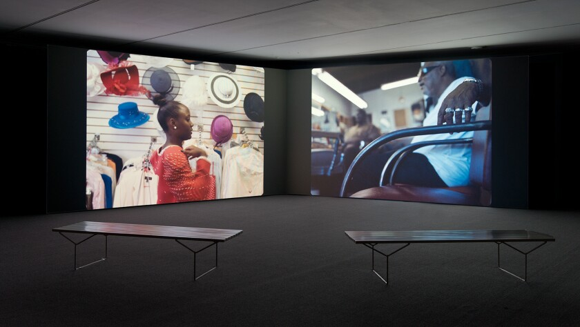 """Kahlil Joseph's two-channel video, """"m.A.A.d.,"""" is at the Museum of Contemporary Art."""