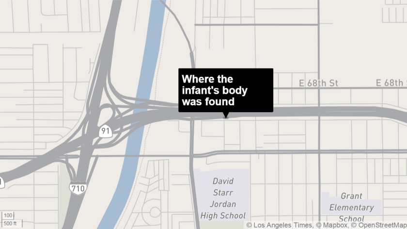 Decomposed body of a baby is found in a Long Beach alley