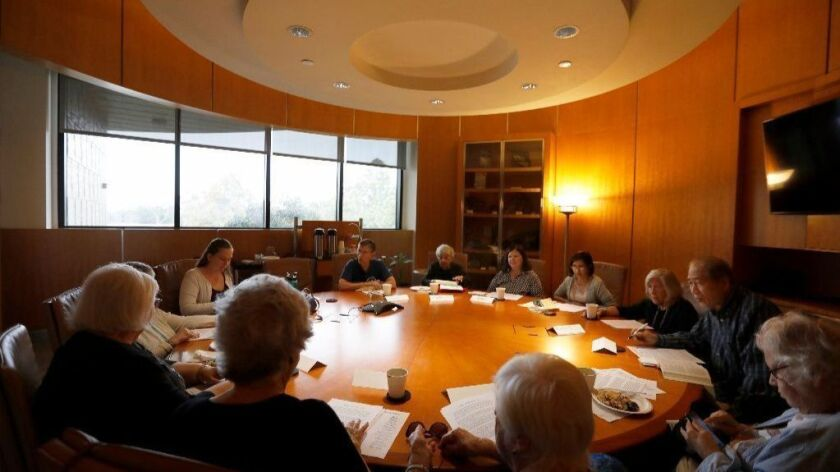 Members of the Cerritos Library Book Club for Adults arrive prepared to discuss and debate a new book every month.