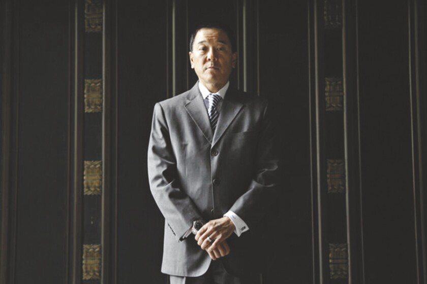 Former Los Angeles County Undersheriff Paul Tanaka at the Los Angeles Times on April 25, 2013.