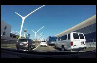 36 million Americans will hit the road this weekend, here's one 87 second trip to LAX