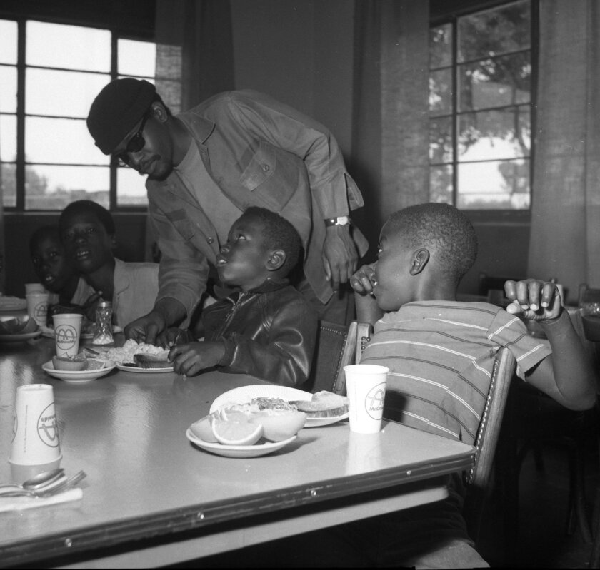 July 25, 1969: Black Panthers serve breakfast to children at Christ of King Catholic Church in San Diego.