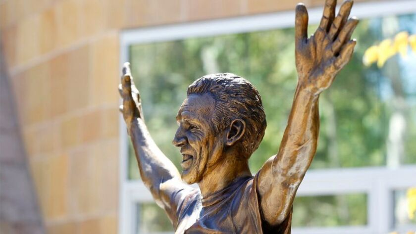 A statue of Bill Walton which is 6-feet, 11 inches tall and weighs approximately 850 pounds was moved to Petco Park. The statue will remain near the Park Boulevard Gate for the rest of the season.