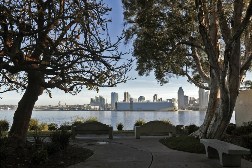 A view of downtown San Diego from Coronado Island, one of the city's many neighborhoods to explore.