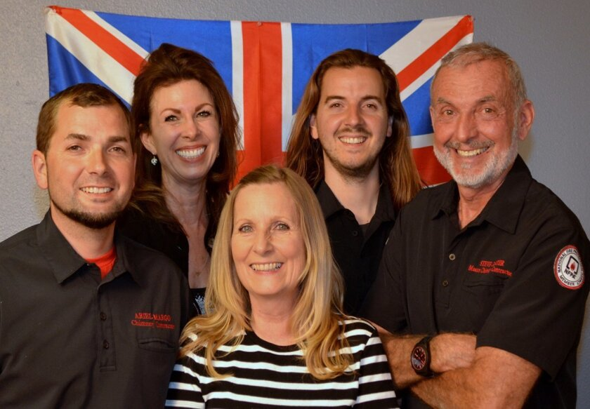 Chimney Sweeps founder Steven Carter and his family: Ariel, Georgia, Valerie, Julian and Steve. Chimney Sweeps, Inc. is based out of 1027 Greenfield Drive, Suite 3, in El Cajon. (619) 593-4020.