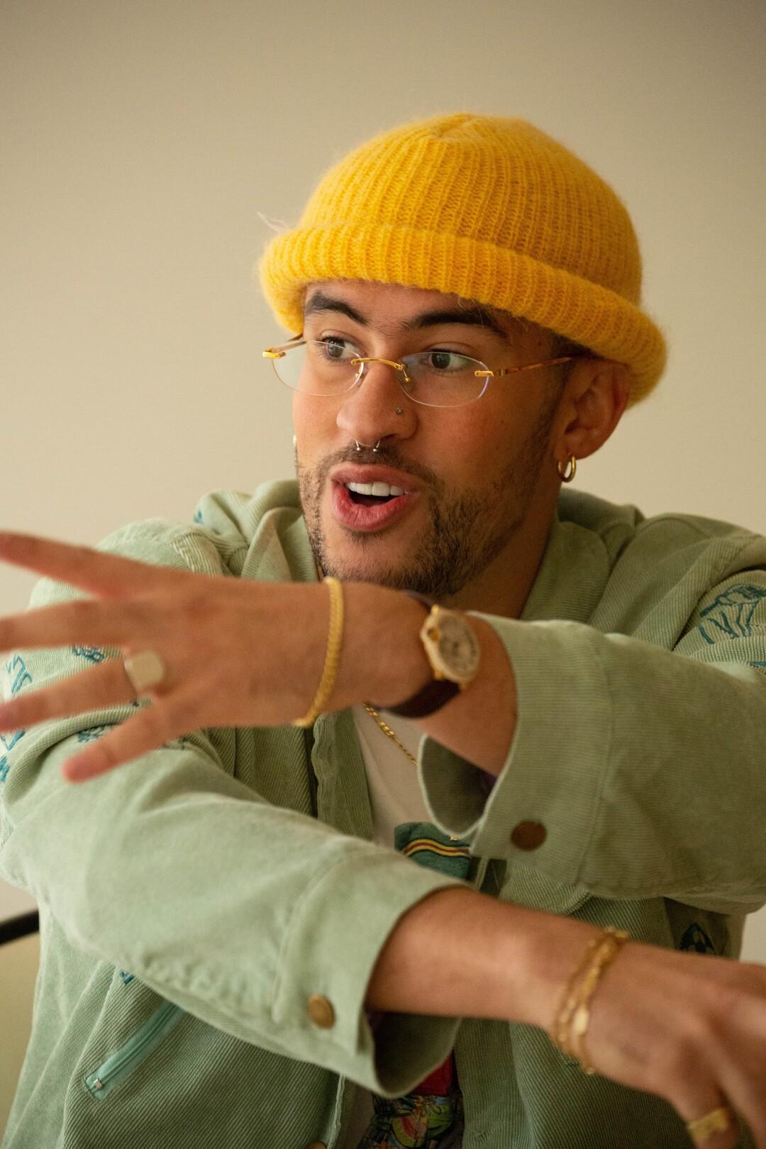 Puerto Rican singer Benito Antonio Martínez Ocasio, stage name Bad Bunny.