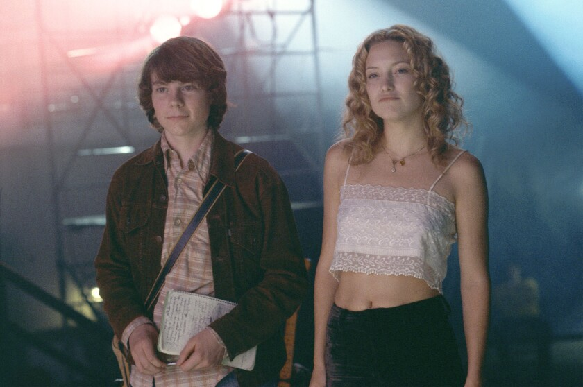"Patrick Fugit and Kate Hudson played music-loving teenagers in the 2000 film ""Almost Famous."""