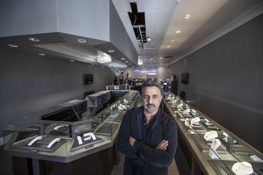 LAGUNA NIGUEL, CALIF. -- WEDNESDAY, APRIL 24, 2019: Brian Hassine, owner of Nuggets and Carats jewel