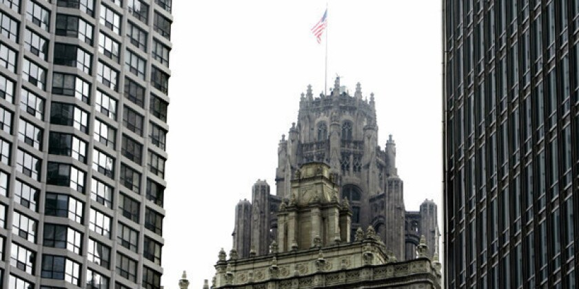 File photo of the Chicago Tribune building, in Chicago.
