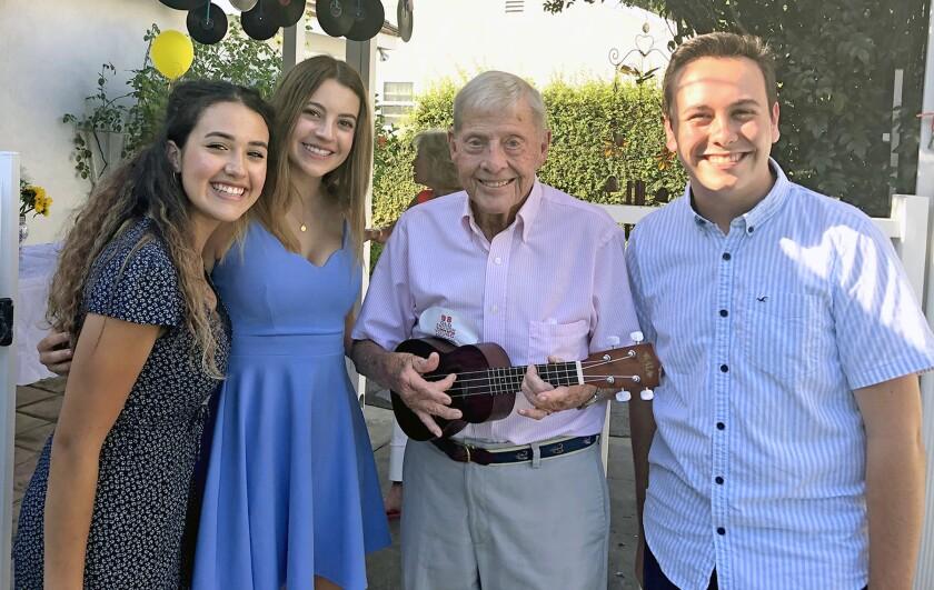 Ted Davis on his 98th birthday