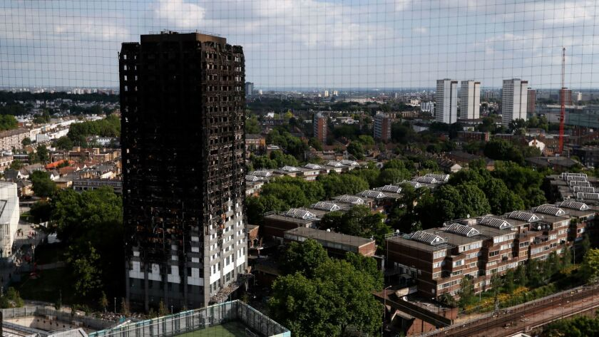 The remains of Grenfell Tower on June 17.