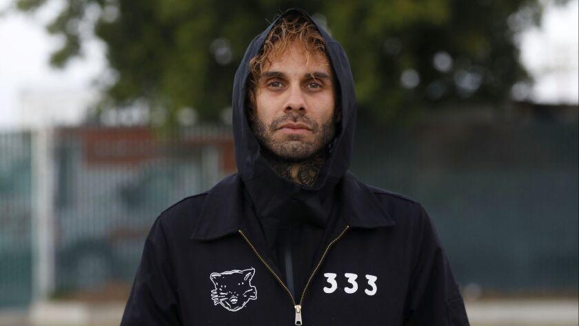 VAN NUYS, CA January 19, 2019: Portrait of The Fever 333 vocalist Jason Aalon Butler in Van Nuys