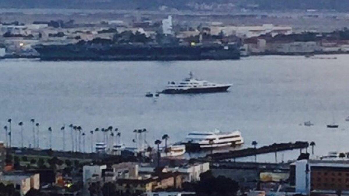 Billionaire S Mega Yacht Makes San Diego Appearance The San Diego