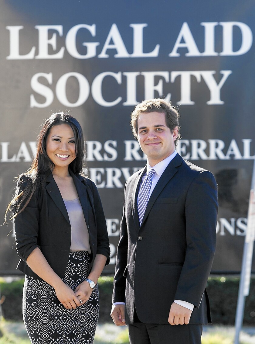 Jill Hiraizumi and Christopher Markelz are two recent Whittier Law School graduates who have started providing low-cost legal services in a new program.