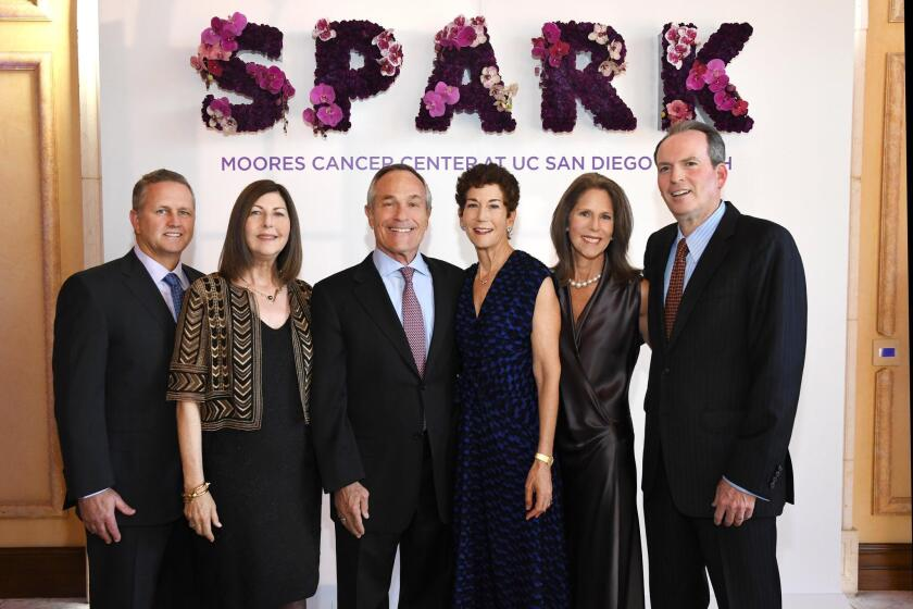 Mark Cammell, Marcia Hazan, Alan Bersin, Lisa Foster, Karen and Jeff Silberman (the ladies are daughters of the late Pauline Foster, the event's Champion of Hope honoree)