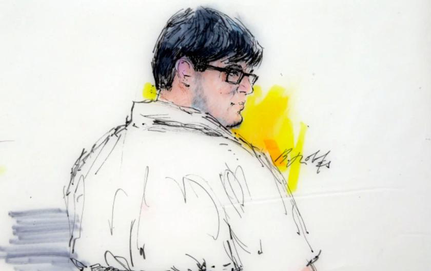 Imagen que representa a Enrique Márquez Jr. en la corte.